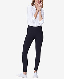 Petite Basic Tummy-Control Ponte Leggings