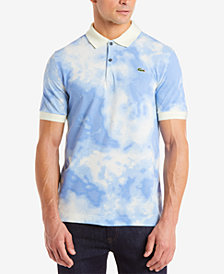 Lacoste Men's LIVE Cloud-Print Piqué Polo
