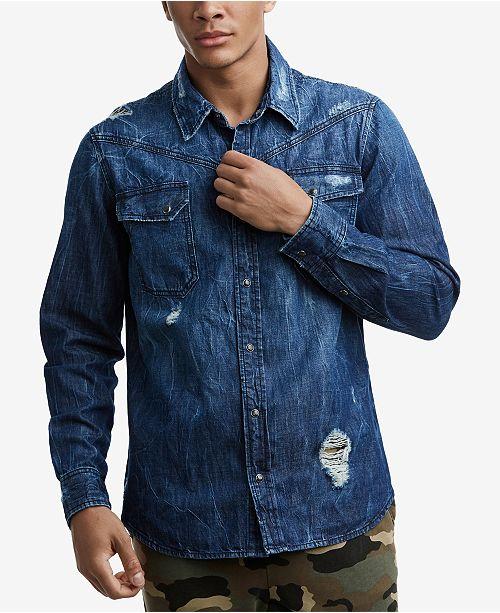 eba5461f8 True Religion Mens Carter Western Shirt   Reviews - Casual Button ...