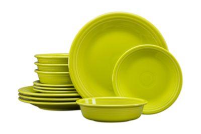 Lemongrass 12 PC Classic Dinnerware Set, Service for 4