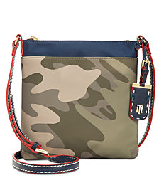 Tommy Hilfger Julia North South Colorblock Camo Crossbody