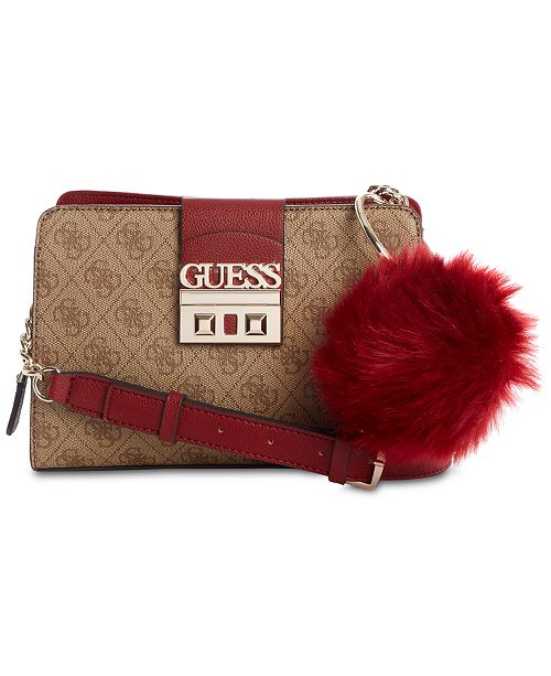 GUESS Logo Luxe Girlfriend Crossbody - Handbags   Accessories - Macy s 6763491231