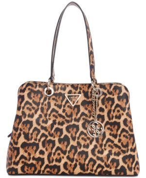Lauri Leopard Shoulder Bag in Leopard/Gold