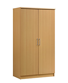 2-Door Armoire with 4-Shelves in Beech
