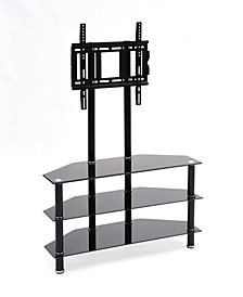 "49.2"" Wide Glass TV Stand with Mount"
