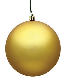 "Vickerman 4.75"" Gold Matte Ball Christmas Ornament, 4 per Bag"