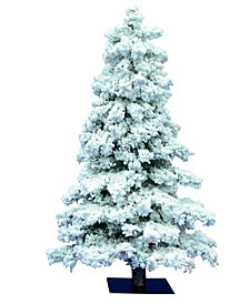 Vickerman 5' Flocked Spruce Artificial Christmas Tree with 478 PVC Tips