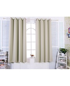 "84"" Tripoli Premium Solid Insulated Thermal Blackout Grommet Window Panels, Oyster"