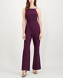 French Connection Sleeveless Square-Neck Jumpsuit