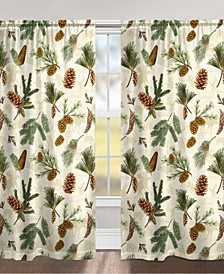 "Pinecone 84"" Black Out Window Curtain"