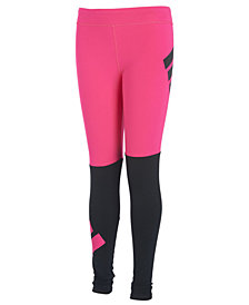 adidas Little Girls Colorblocked Logo Leggings