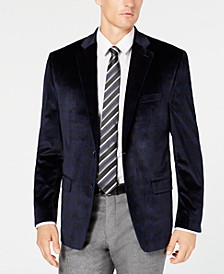 Men's Classic/Regular Fit UltraFlex Velvet Plaid Sport Coat