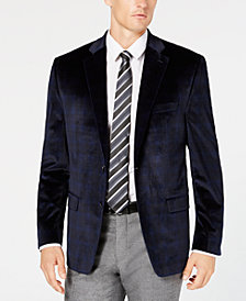 Lauren Ralph Lauren Men's Classic/Regular Fit UltraFlex Velvet Plaid Sport Coat