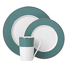 Lenox Pleated Colors Teal 3 Piece Place Setting