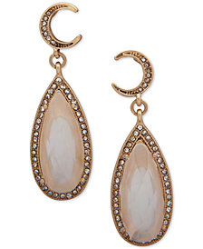 lonna & lilly Gold-Tone Crystal Stone Teardrop Earrings