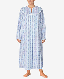 Lanz of Salzburg Plus Size Cotton Printed Nightgown