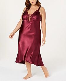 Plus Size Satin Stella Nightgown