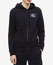 Calvin Klein Jeans Men's Zip-Front Logo Hoodie