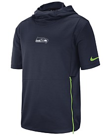 Nike Men's Seattle Seahawks Therma Top Short Sleeve Jacket