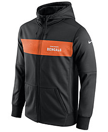 Nike Men's Cincinnati Bengals Seismic Therma Full-Zip Hoodie
