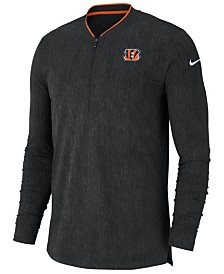 Nike Men's Cincinnati Bengals Coaches Quarter-Zip Pullover