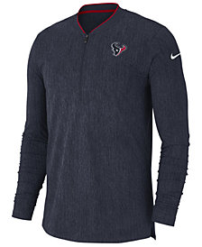 Nike Men's Houston Texans Coaches Quarter-Zip Pullover