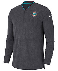 Nike Men's Miami Dolphins Coaches Quarter-Zip Pullover