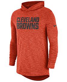 Nike Men's Cleveland Browns Dri-Fit Cotton Slub On-Field Hooded T-Shirt