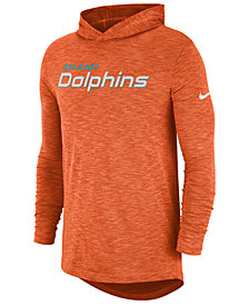 Nike Men's Miami Dolphins Dri-Fit Cotton Slub On-Field Hooded T-Shirt