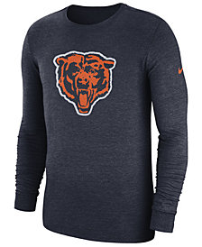 Nike Men's Chicago Bears Historic Crackle Long Sleeve Tri-Blend T-Shirt