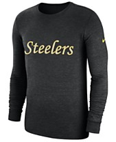 99fd5aa83 Nike Men s Pittsburgh Steelers Historic Crackle Long Sleeve Tri-Blend T- Shirt