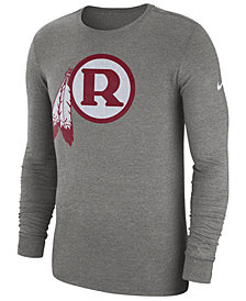 Nike Men's Washington Redskins Historic Crackle Long Sleeve Tri-Blend T-Shirt