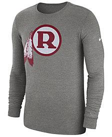 Nike Men's Washington Redskins Historic Crackle Long Sleeve Tri-Blend T-Shirt