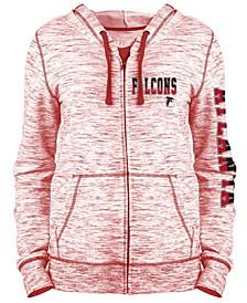 Women's Atlanta Falcons Space Dye Full-Zip Hoodie