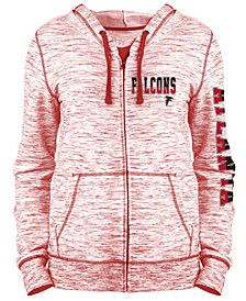 5th & Ocean Women's Atlanta Falcons Space Dye Full-Zip Hoodie