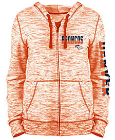 5th & Ocean Women's Denver Broncos Space Dye Full-Zip Hoodie