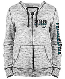 5th & Ocean Women's Philadelphia Eagles Space Dye Full-Zip Hoodie