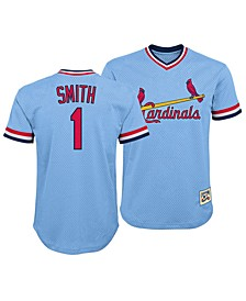 Ozzie Smith St. Louis Cardinals Mesh V-Neck Player Top, Big Boys (8-20)