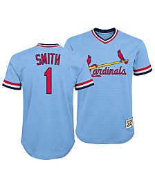Outerstuff Ozzie Smith St. Louis Cardinals Mesh V-Neck Player Top, Big Boys (8-20)