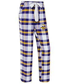 Concepts Sport Women's Minnesota Vikings Headway Flannel Pajama Pants