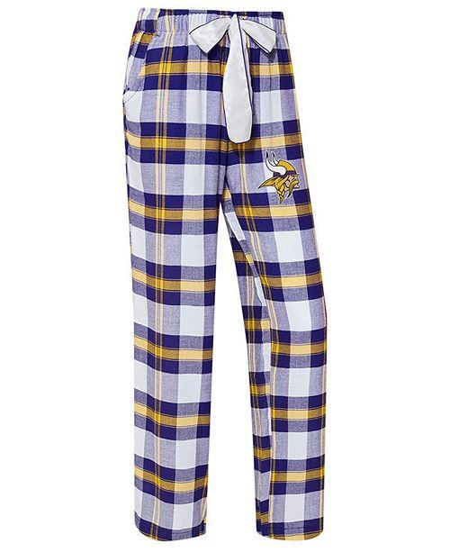 c5d969241f0 Concepts Sport Women s Minnesota Vikings Headway Flannel Pajama Pants