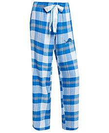 Concepts Sport Women's Detroit Lions Headway Flannel Pajama Pants