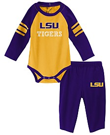 Outerstuff LSU Tigers Future Starter Creeper Pant Set, Infants (0-9 Months)