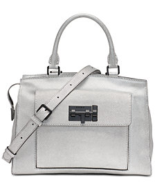 DKNY Elizabeth Metallic Satchel, Created for Macy's