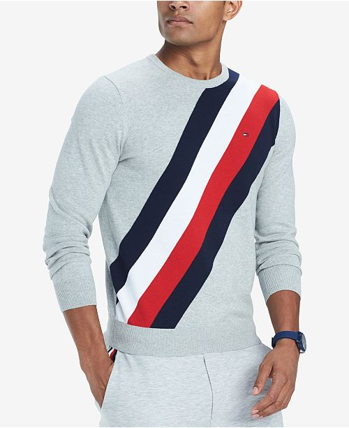 Tommy Hilfiger Mens Fitch Logo Stripe Sweater Created For Macys