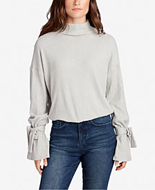 WILLIAM RAST Elle Thermal Tied Turtleneck Top