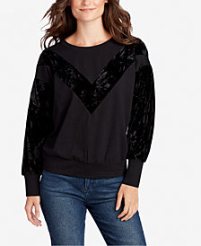 WILLIAM RAST Hannah Velvet-Trim Top