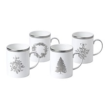 Winter White Mug Set/4