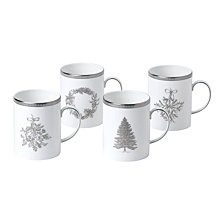 Wedgwood Winter White Mug Set/4