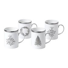 Wedgwood Winter White Mug Set/4